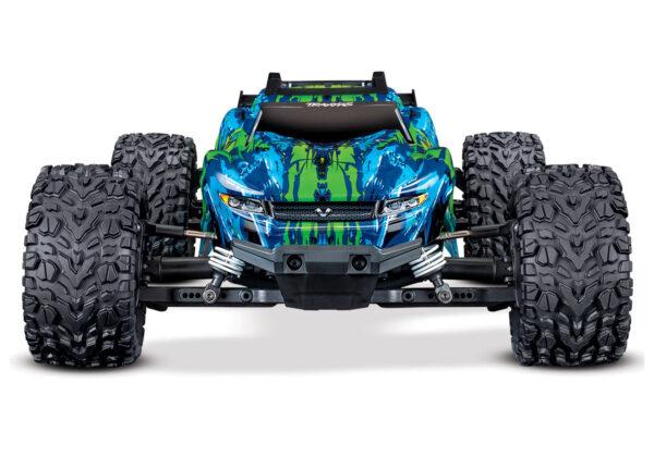 67076-4-Rustler-4×4-VXL-Green-Frontview