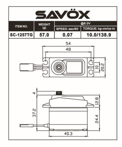 SC1257TG-BE - Black Edition Standard Size Coreless Digital Servo .07/139 @ 6V