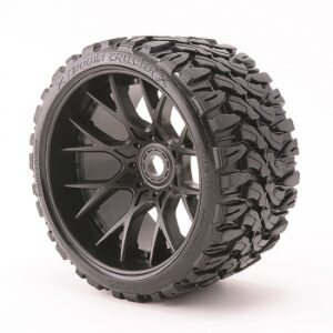 SWEEP TERRAIN CRUSHER BELTED T YRE BLACK 17MM WHEELS 1/4 OFFSET